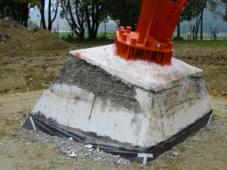 Abplatzungen des Betons an der Bauteiloberfl�che